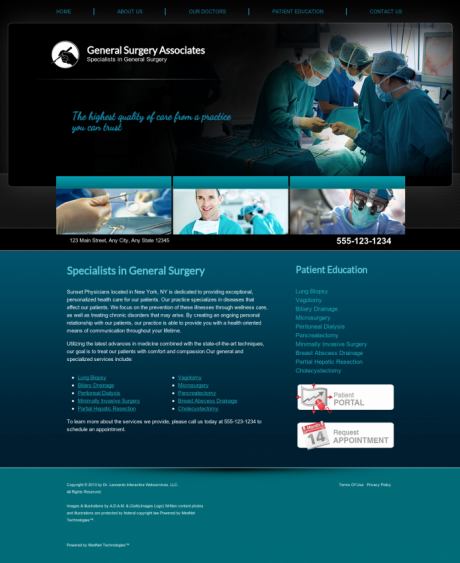 General Surgery Website Preview #2