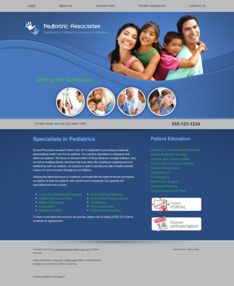 Pediatrics Website Preview #2