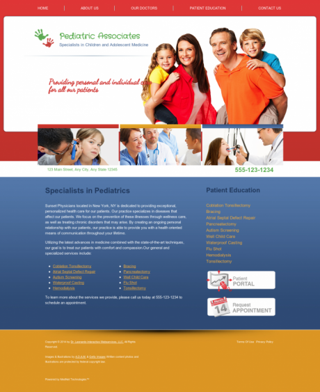 Pediatrics Website Preview #1
