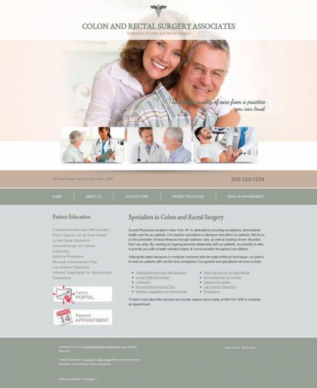 Colon & Rectal Surgery Website Preview #2