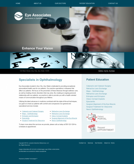 Ophthalmology Website Preview #7