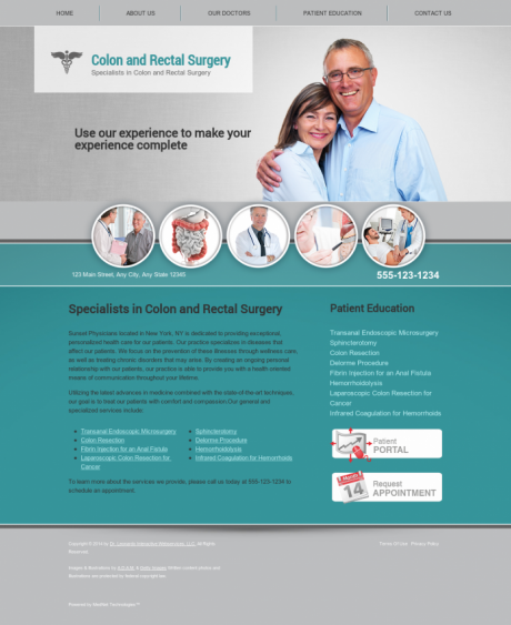 Colon & Rectal Surgery Website Preview #1