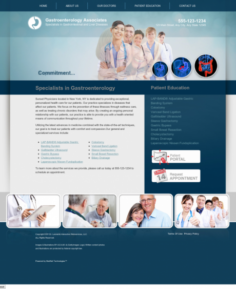 Gastroenterology Website Preview #6