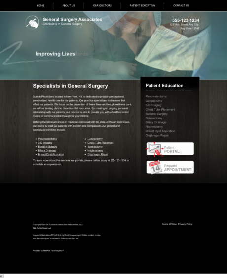 General Surgery Website Preview #3