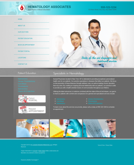 Hematology Website Preview #2