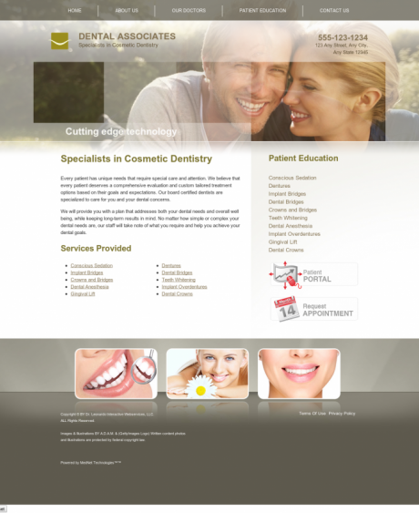 Cosmetic Dentistry Website Preview #2