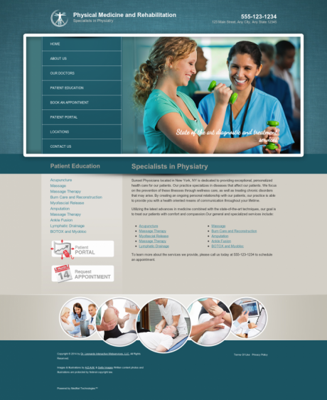 Physical Medicine Website Preview #2