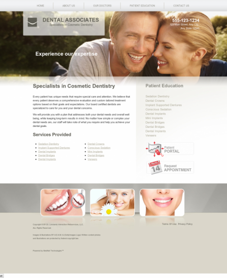 Cosmetic Dentistry Website Preview #3