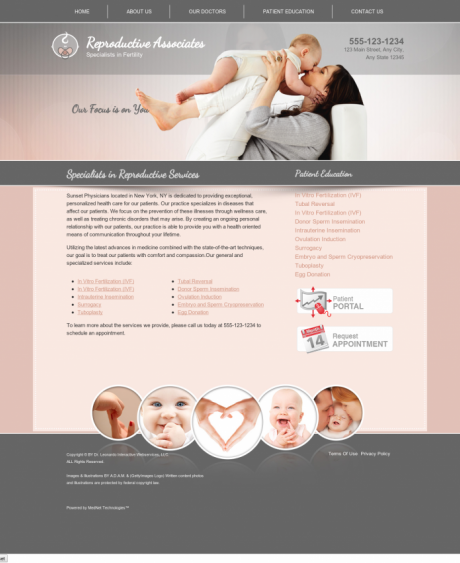 Reproductive Services Website Preview #1