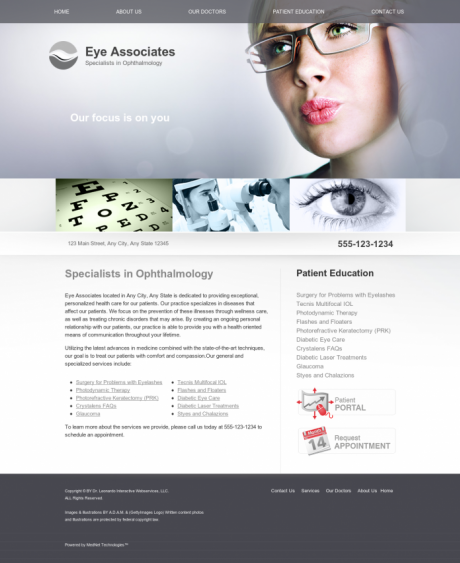 Ophthalmology Website Preview #8