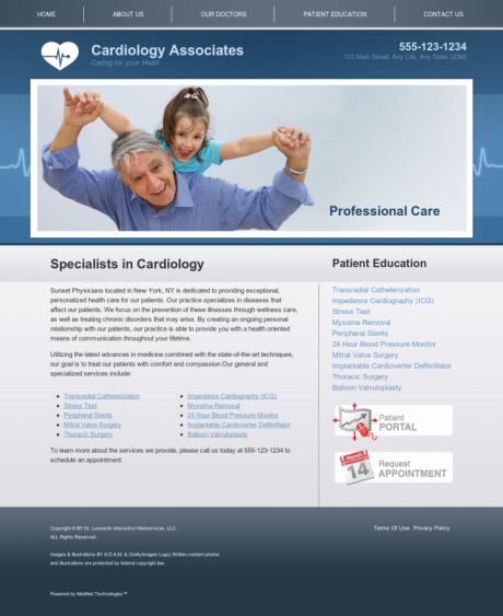 Cardiovascular Website Preview #6