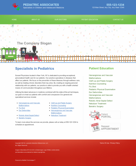 Pediatrics Website Preview #4