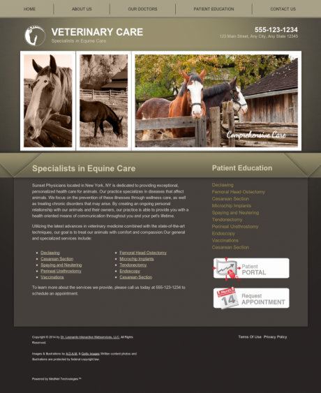 Equine Website Preview #3
