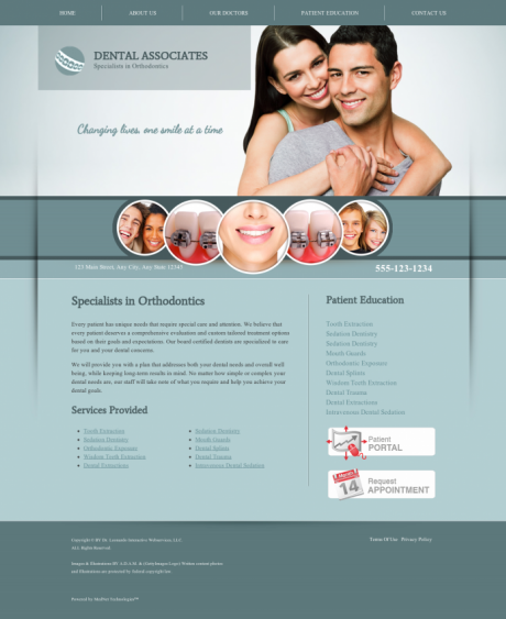 Orthodontics Website Preview #4
