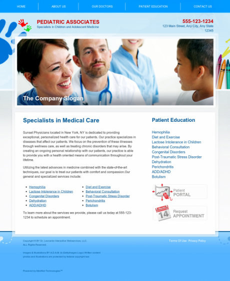 Pediatrics Website Preview #5