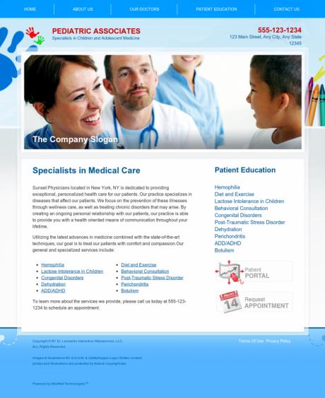 Pediatrics Website Preview #5