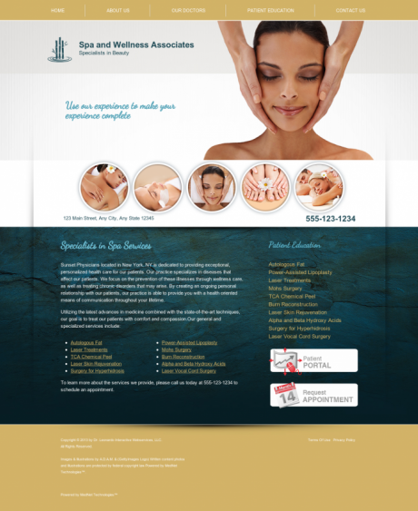 Dermatology Website Preview #2