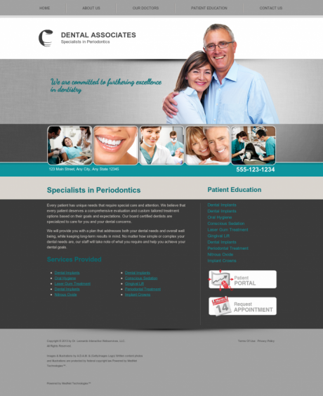 Periodontics Website Preview #1