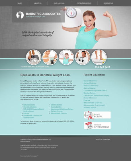 Bariatric Surgery Website Preview #5