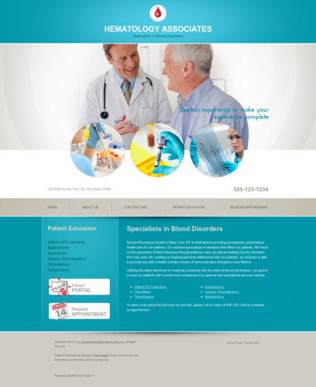 Hematology Website Preview #3