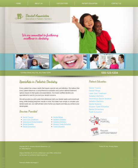 Pediatric Dentistry Website Preview #2