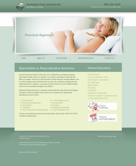 Reproductive Services Website Preview #2