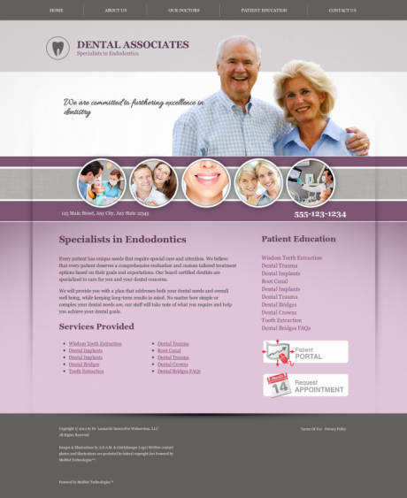 Endodontics Website Preview #2