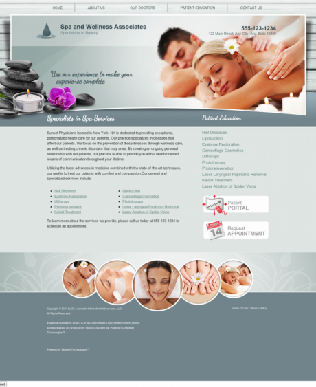 Dermatology Website Preview #3