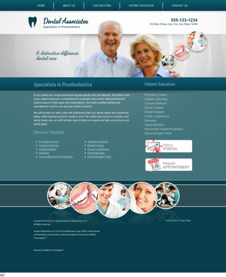Prosthodontics Website Preview #5
