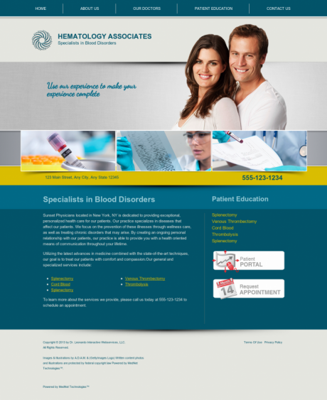 Hematology Website Preview #4