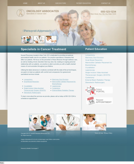 Oncology Website Preview #4