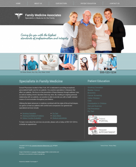 Family Medicine Website Preview #2