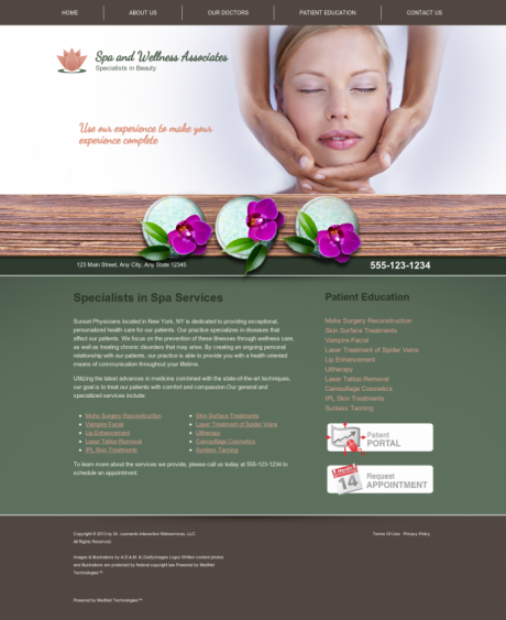 Dermatology Website Preview #4