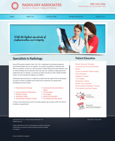 Radiology Website Preview #3