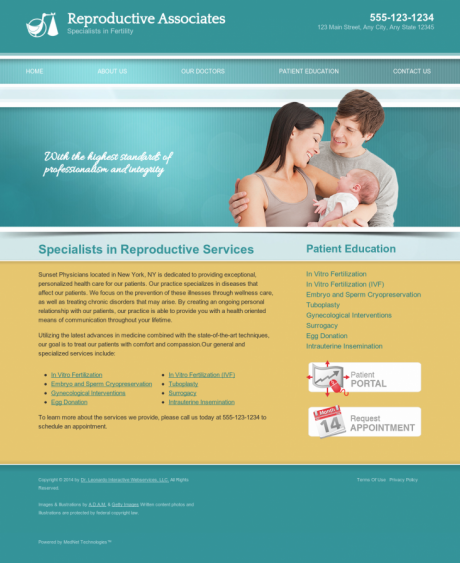 Reproductive Services Website Preview #3
