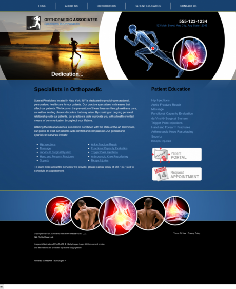 Orthopaedic Website Preview #3