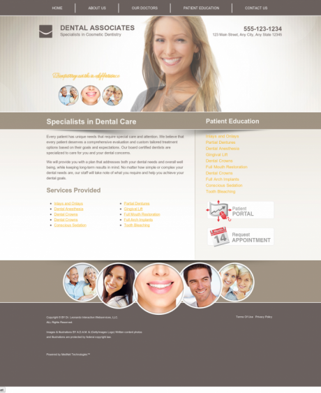Cosmetic Dentistry Website Preview #4