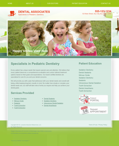 Pediatric Dentistry Website Preview #18