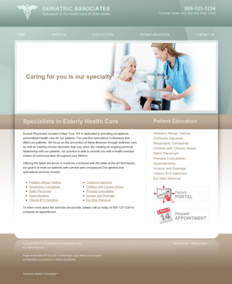 Internal Medicine Website Preview #3
