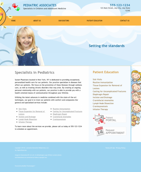 Pediatrics Website Preview #6