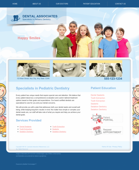 Pediatric Dentistry Website Preview #4