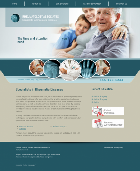 Rheumatology Website Preview #1