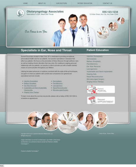 Otolaryngology Website Preview #2