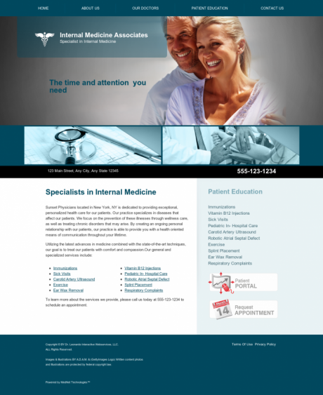 Internal Medicine Website Preview #1