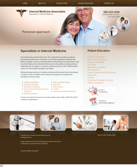 Internal Medicine Website Preview #5