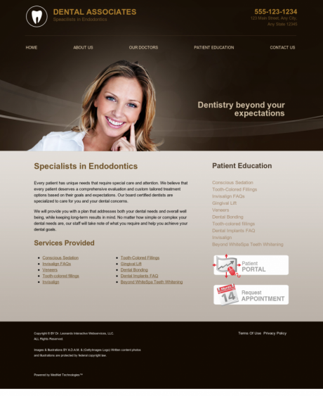 Endodontics Website Preview #3