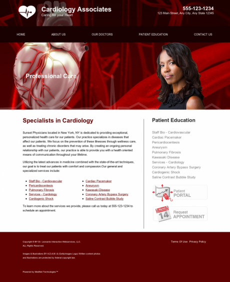 Cardiovascular Website Preview #2