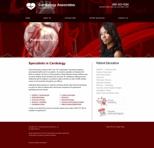 Cardiovascular Website Thumbnail #2