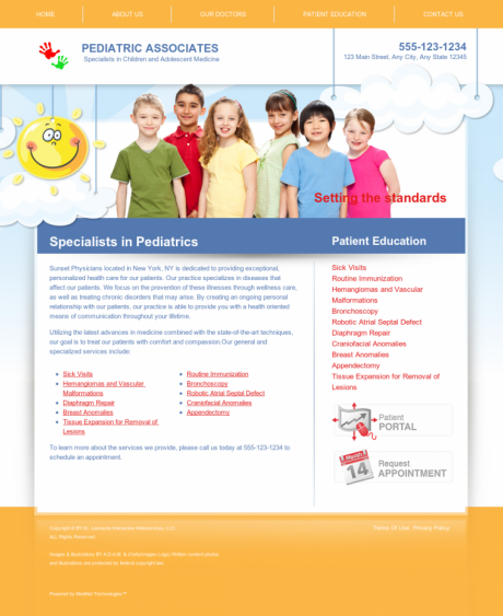 Pediatrics Website Preview #7