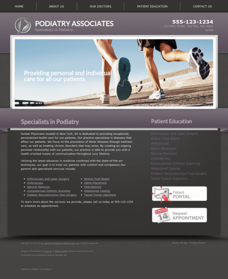 Podiatry Website Preview #2